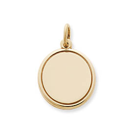 Engravable Disc Charm