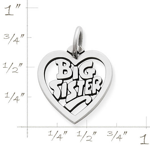 "View Larger Image of ""Big Sister"" Heart Charm"