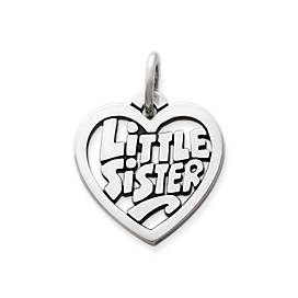 """Little Sister"" Heart Charm"