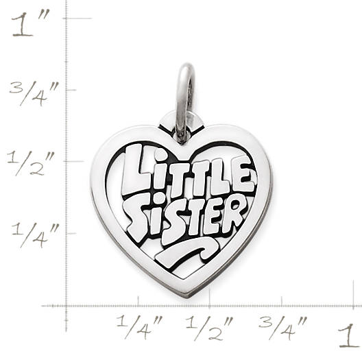 """View Larger Image of """"Little Sister"""" Heart Charm"""