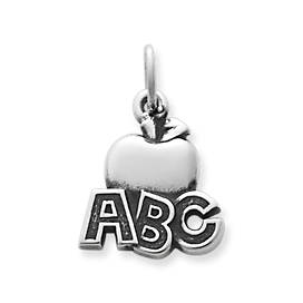"""ABC"" Apple Charm"