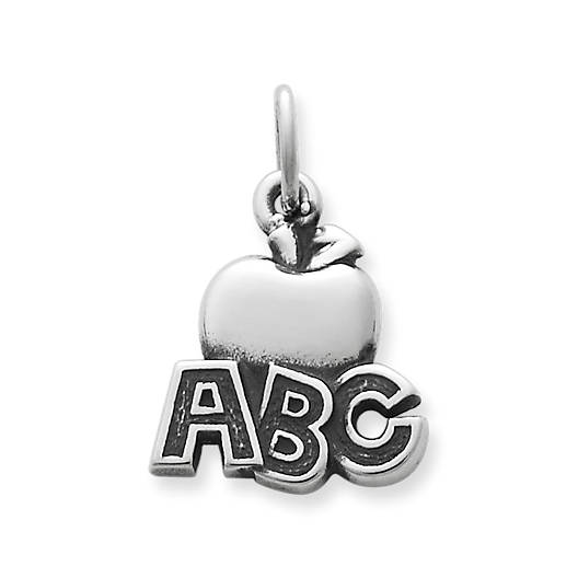 "View Larger Image of ""ABC"" Apple Charm"