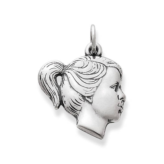 View Larger Image of Girl's Profile Charm