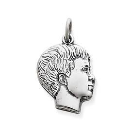 Boy's Profile Charm