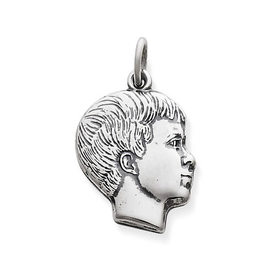 View Larger Image of Boy's Profile Charm