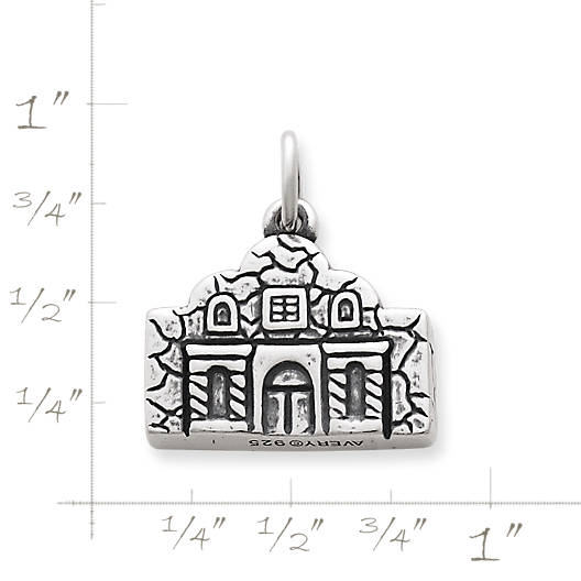 View Larger Image of Sculptured Alamo Charm