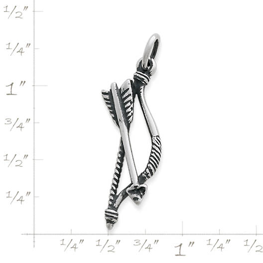 View Larger Image of Bow and Arrow Charm