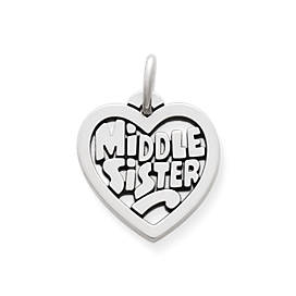 """Middle Sister"" Heart Charm"