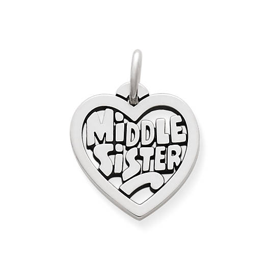 "View Larger Image of ""Middle Sister"" Heart Charm"