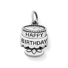 Tiny Birthday Cake Charm