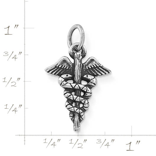 View Larger Image of Caduceus Charm