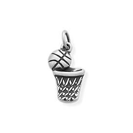 Basketball & Hoop Charm