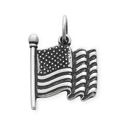 View Larger Image of American Flag Charm