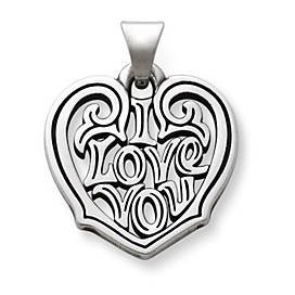 """I Love You"" Heart Pendant"