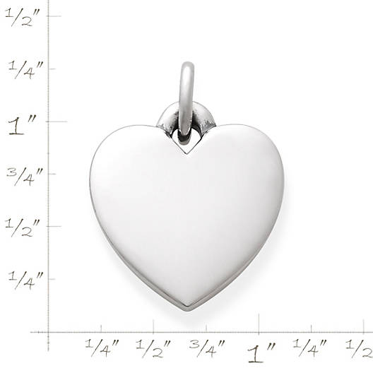 View Larger Image of Smooth Engravable Heart Charm