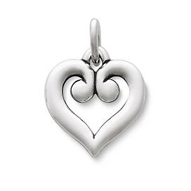 Scrolled Heart Charm