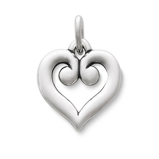 View Larger Image of Scrolled Heart Charm