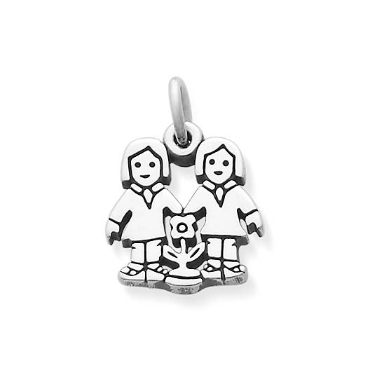 View Larger Image of Two Girls Charm