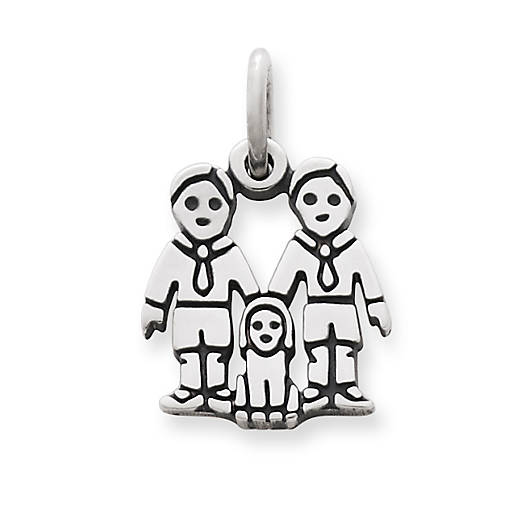 View Larger Image of Two Boys Charm