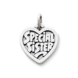 """Special Sister"" Heart Charm"