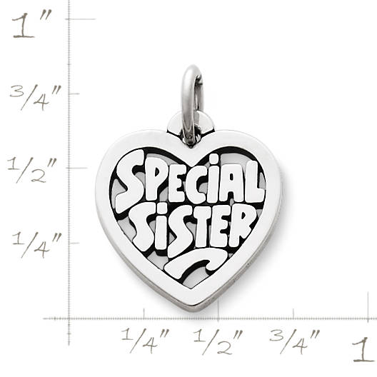"View Larger Image of ""Special Sister"" Heart Charm"