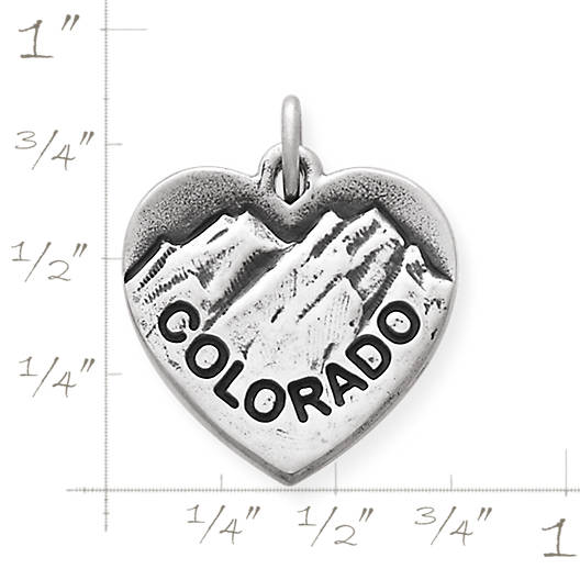 View Larger Image of I Love Colorado Charm