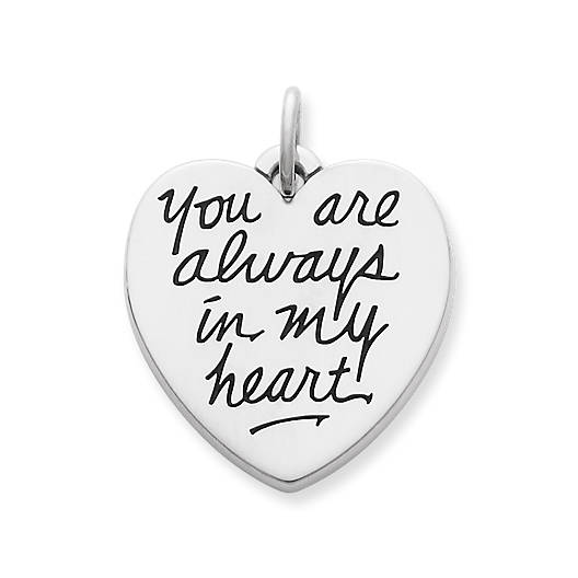 "View Larger Image of ""You Are Always in My Heart"" Charm"