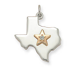 Star of Texas Diamond Pendant