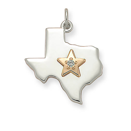 Star of texas diamond pendant james avery view larger image of star of texas diamond pendant mozeypictures Images