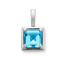 Bella Pendant with Blue Topaz