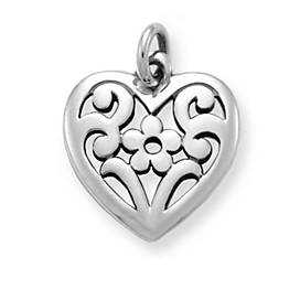 Floral Heart Charm
