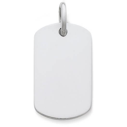 View Larger Image of Engravable Dog Tag Pendant