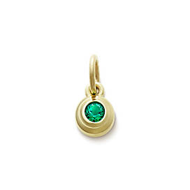 Avery Remembrance Pendant with Lab-Created Emerald