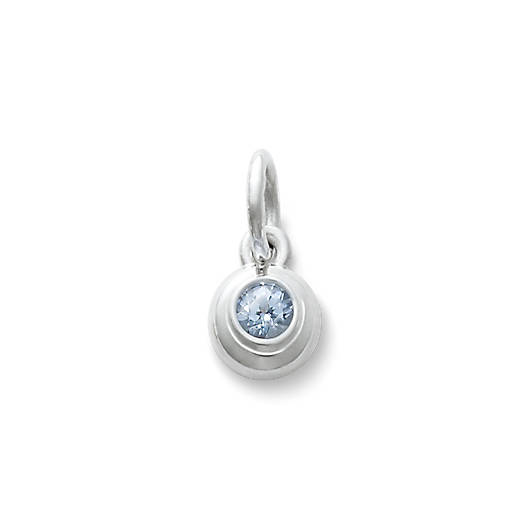 View Larger Image of Avery Remembrance Pendant with Lab-Created Aqua Spinel