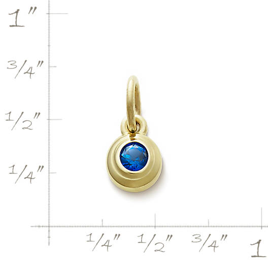 View Larger Image of Avery Remembrance Pendant with Lab-Created Blue Sapphire