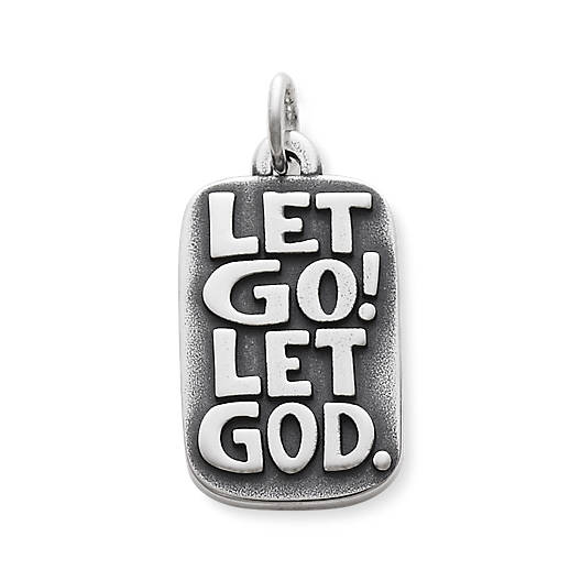 "View Larger Image of ""Let Go Let God"" Charm"