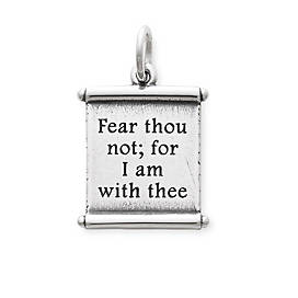 """For I Am With Thee"" Scroll Charm"