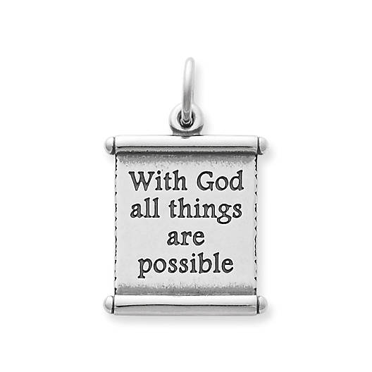 "View Larger Image of ""All Things Are Possible"" Scroll Charm"