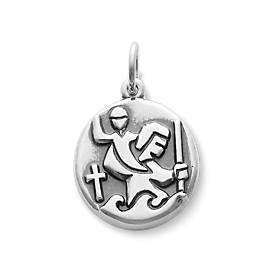 Round St. Christopher Medal Charm