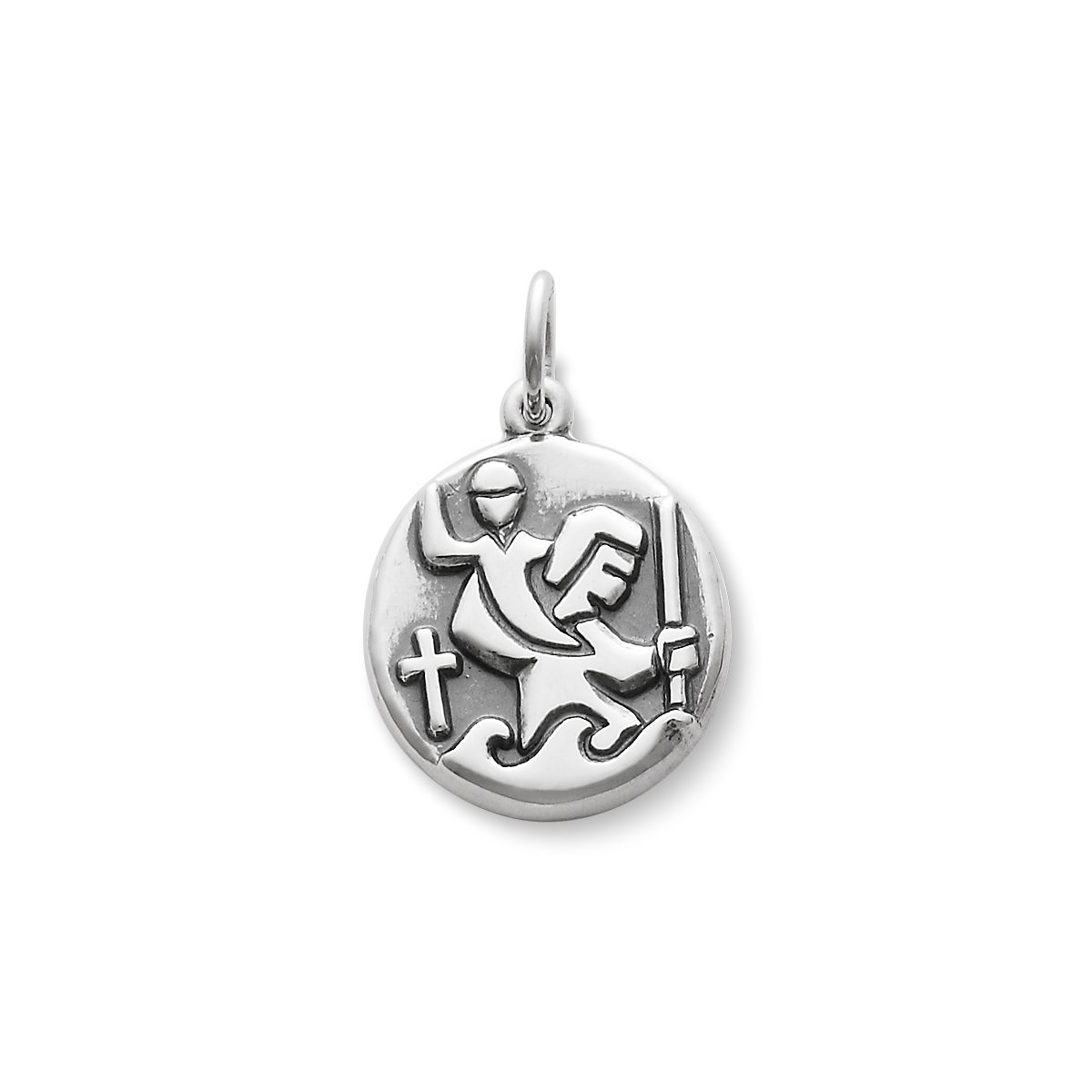 Round st christopher medal charm james avery st christopher medal charm share aloadofball Gallery