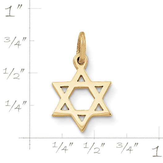 View Larger Image of Star of David Charm