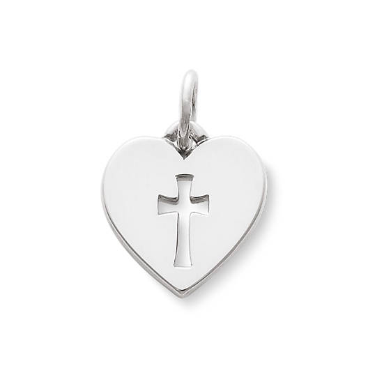 View Larger Image of Crosslet Heart Charm
