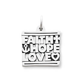 """Faith, Hope & Love"" Charm"