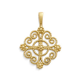 Twisted Wire Lacy Cross