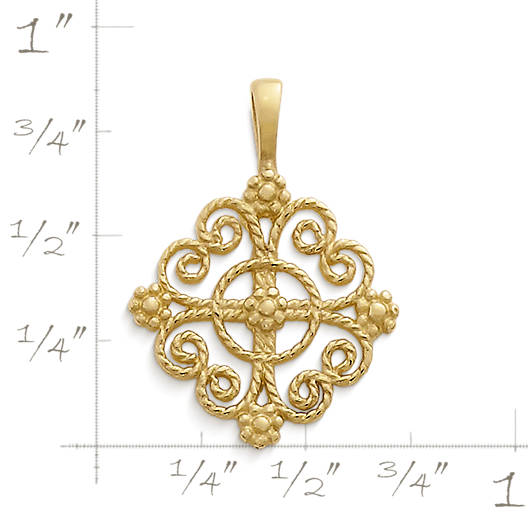 View Larger Image of Twisted Wire Lacy Cross