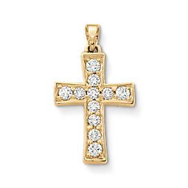 Plain Latin Cross with Diamonds