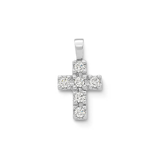 View Larger Image of Petite Latin Cross with Diamonds