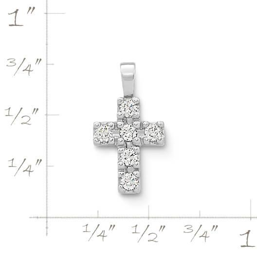 View Larger Image of Petite Latin Cross with Diamonds