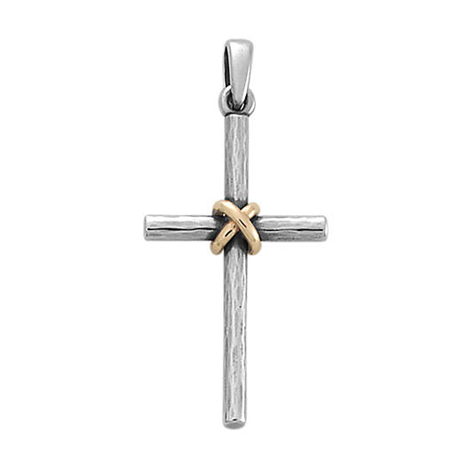 View Larger Image of Forged Cross with Gold Wrap