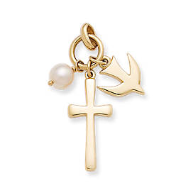 Faithful Spirit Pendant with Cultured Pearl